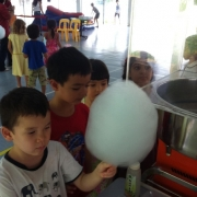 Queuing up for candy floss