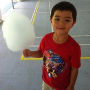 Kid with candy floss