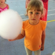 Kid looks stunned! Perhaps is because of the big candy floss..